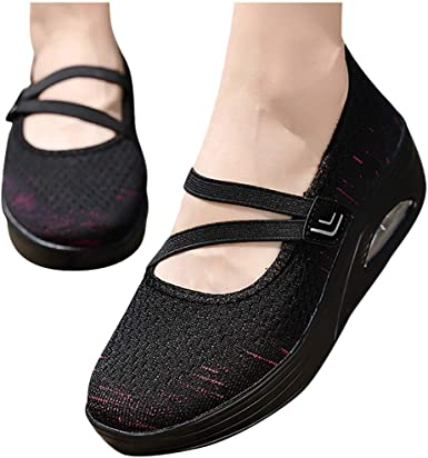 Dainzusyful Womens Slip On Loafer Low Top Breathable Shoes Comfort Slip-On Sport Flat Heel Loafers Sneakers