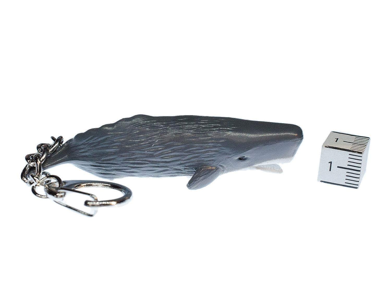 Miniblings Cachalot Porte-cl/és adeptes Ocean Seafood Baleine Grise