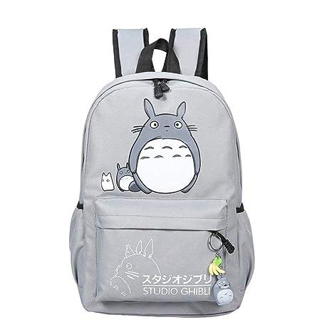 New Cute Kawaii Animal Classic Cartoon Anime Canvas Totoro Backpack Study  Stationery Fashion Blue Casual Bag Satchel School Bags Student Kids Gift