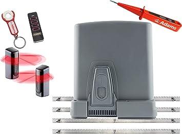 Sommer STArter 4018 - Sistema de accionamiento para puertas correderas (400 kg, con barra de acero dentado, transmisor manual con remolque ADAMS y barrera de luz 7029, 4 en 1): Amazon.es: Bricolaje y herramientas