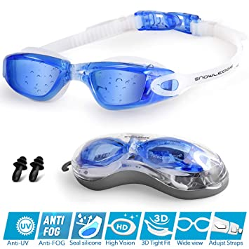 b762af9daa Snowledge Swimming Goggles Adult No Leaking swim goggles men UV Protection Swim  Goggles Adult with Anti