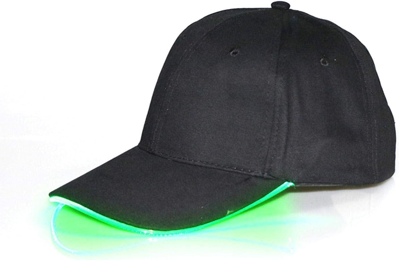 YENJO Luminous Cap LED Glowing Baseball Hat Duck Tongue Cap Baseball Caps