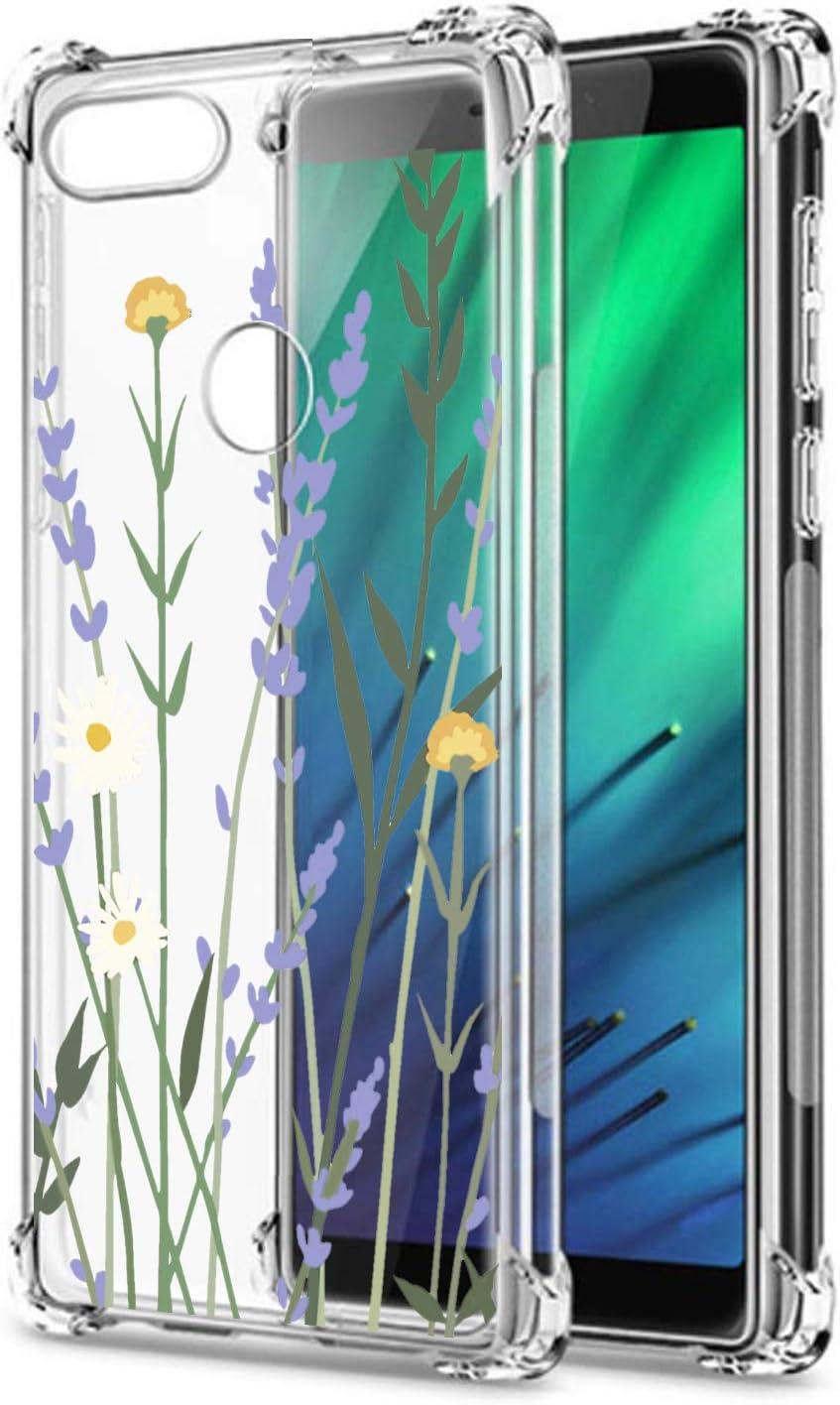 Oihxse Cristal Compatible con Xiaomi Redmi Note 7/Note 7 Pro/Note 7S Funda Transparente TPU Silicona Estuche Airbag Esquinas Anti-Choque Anti Rasguños Diseño Rosa Flower Caso (Flores A8)