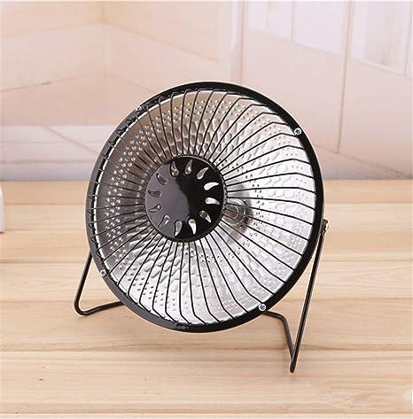 JIXIANG Calentador eléctrico de Ahorro de energía_9 Pulgadas Estufa de asado con Ventilador eléctrico, Escritorio