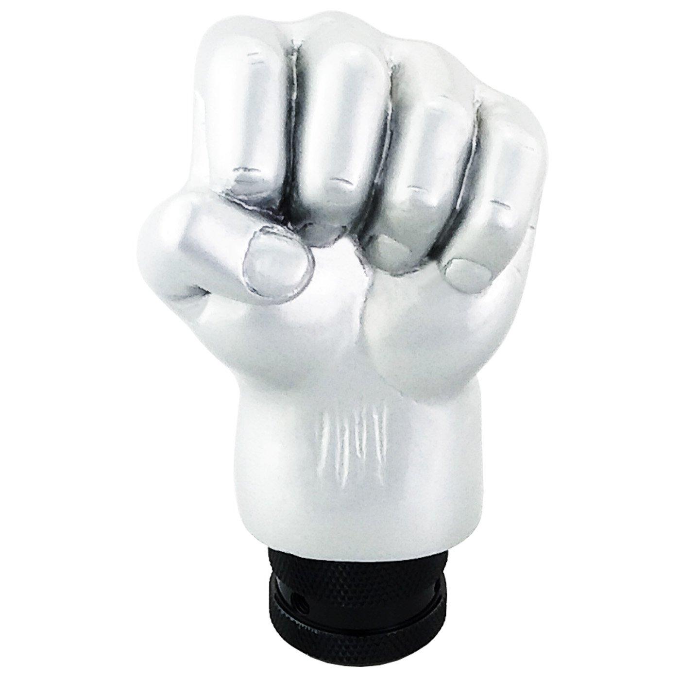 Lensuntom LUNSOM Manual Automatic Transmission Silver Hand Universal Shift Knob Aluminium Alloy Knobs Shifter Gear Stick Head