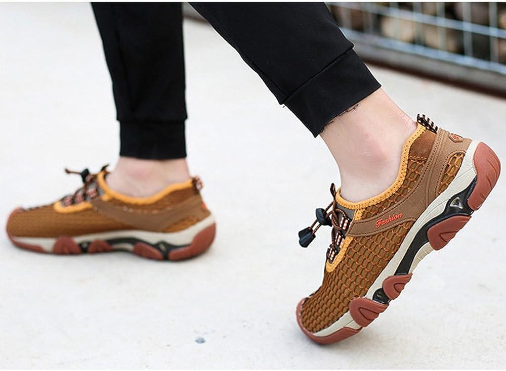 MYXUA Hommes D'été En Plein Air Randonnée Chaussures Sandales Chaussures Net Chaussures De Course Haute Chaussures à Séchage Rapide Chaussures Chaussures De Sport Brown
