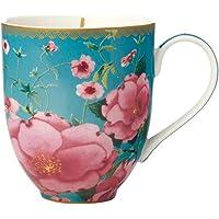 Maxwell & Williams Teas & C's Silk Road Coupe Mug, 440 ml Capacity, Aqua