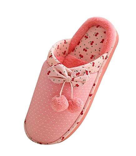 cattior - Pompones para cálida Zapatillas de casa Zapatillas dormitorio: Amazon.es: Zapatos y complementos