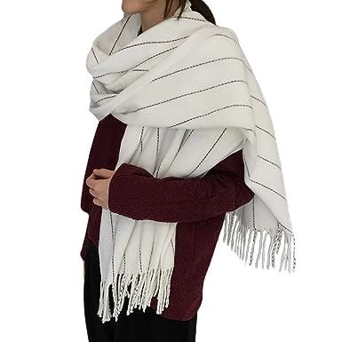 great deley automne hiver grosse echarpes femme lady plaid stripe mode  vintage long foulards scarf charpe chles with grosse echarpe plaid 657603c3bca