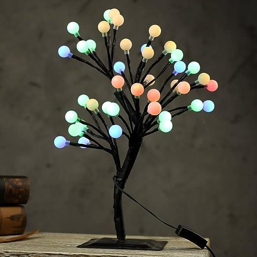 mholfb 0,4 m/15.75 pulgadas 40 bombillas LED de flores de cerezo ...