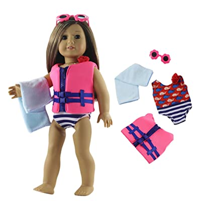 "HongShun 1 Set Fashion Swimsuit Outfit for 18""American Girl Doll: Toys & Games"