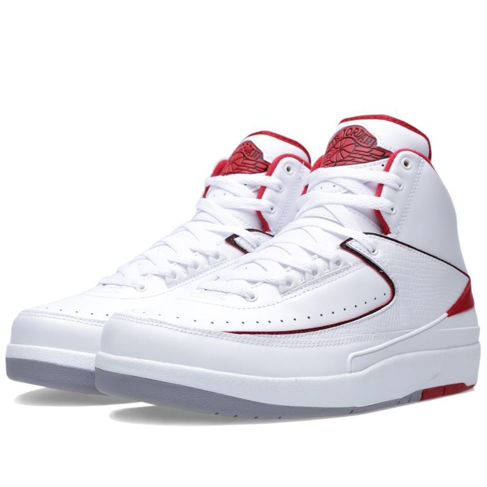 new product 0bdd1 c413e Amazon.com   Jordan Men s Air 2 Retro, White Black-Varsity RED-Cement Grey,  11 M US   Basketball