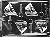 Cybrtrayd Life of the Party K012 Sailboat Sailing Seafaring Lolly Chocolate Candy Mold in Sealed Protective Poly Bag Imprinted with Copyrighted Cybrtrayd Molding Instructions