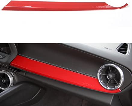 Carbon Fiber Grain ABS Car Copilot Passenger Seat Panel Decoration Cover Trim Frame Sticker Decor For Chevrolet Camaro 2017+