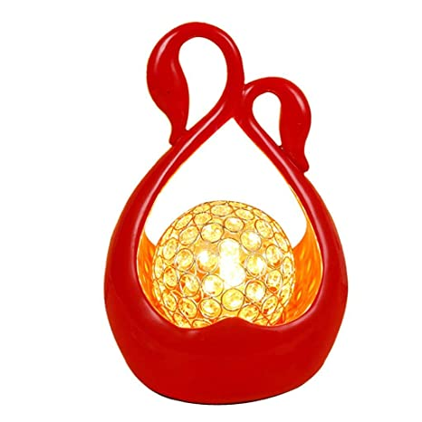 YLCJ Lámpara de mesa Lámpara de mesa de cristal simple ...
