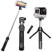 """Bastone Selfie,PEYOU [3 in 1] Bastone Selfie Stick Bluetooth Estendibile Monopiede Tenuto a Mano Supporto Treppiedi Otturatore a Telecomando Rimovibile fino ai 35.4"""" per Gopro Camera, per iPhone X 8/8 Plus 7/7Plus 6s/6s Plus 6/6 Plus e per Samsung Galaxy S8/S8 Plus S7/S7 Edge e smartphone sotto i 6""""(Nero)"""