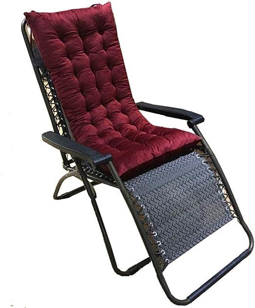 Cojín sólido de color Muebles de jardín, engrosamiento antideslizante Tumbona Cojines, balancín Cojines de repuesto con la espalda Loops, cubierta de asiento de silla for Seat / baywindow Pastillas /: Amazon.es: Hogar