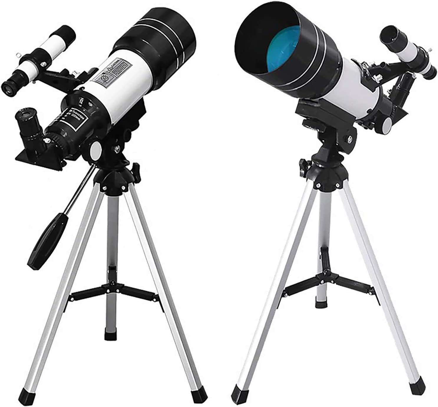 Kanzd Astronomy Telescope for Kids Adults Beginners, 150X Refractor Telescope for Astronomy 70mm Aperture 300mm AZ Astronomical Refractor Travel Telescope
