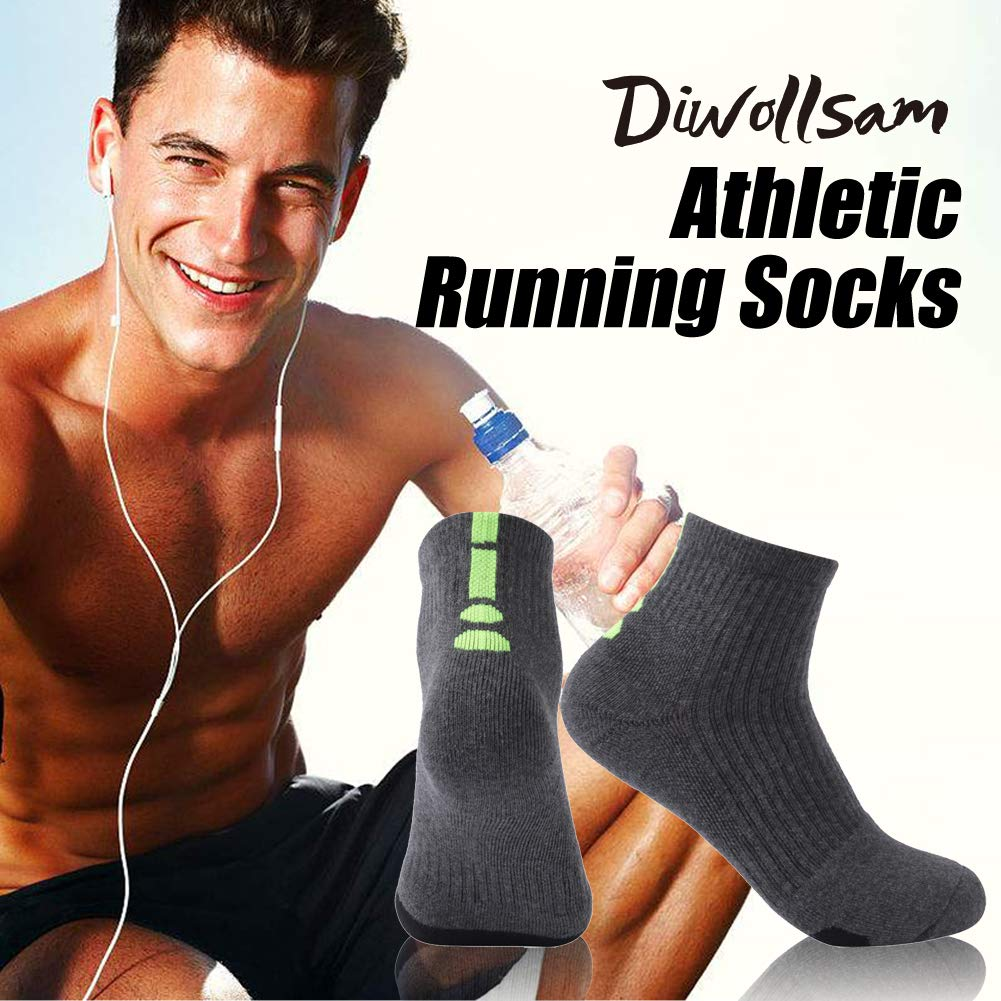 1//3//5 Pairs Men Women Cool Breathable Cotton Ankle Casual Sport Running Hiking Dress Socks diwollsam Basketball Socks Cushioned
