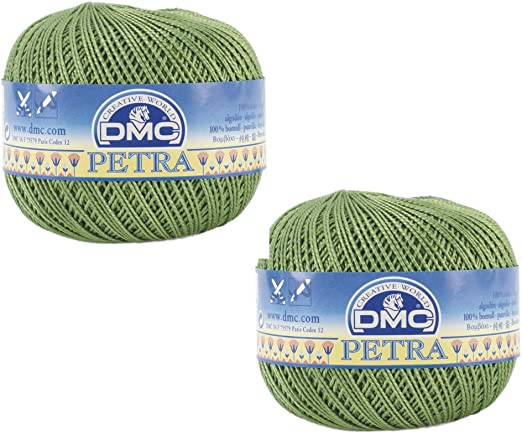 DMC/Petra 5905 - Hilo de algodón para ganchillo, 2 bolas de hilo ...