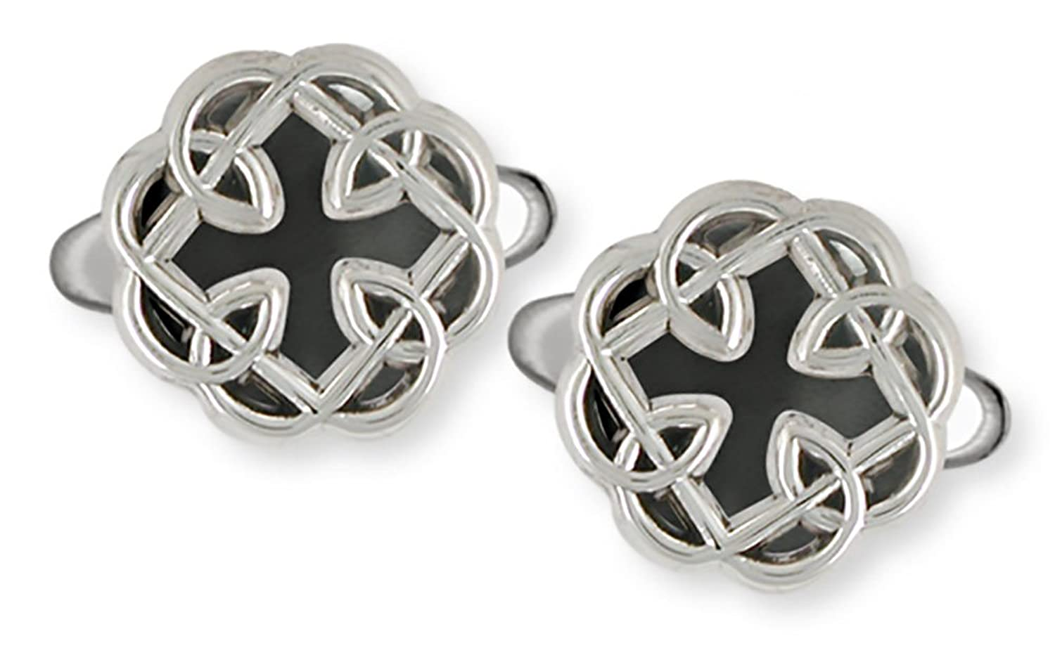 Celtic Knot Father And Daughter Cross Cuff Links Jewelry Handmade Sterling Silver MFC2-CL