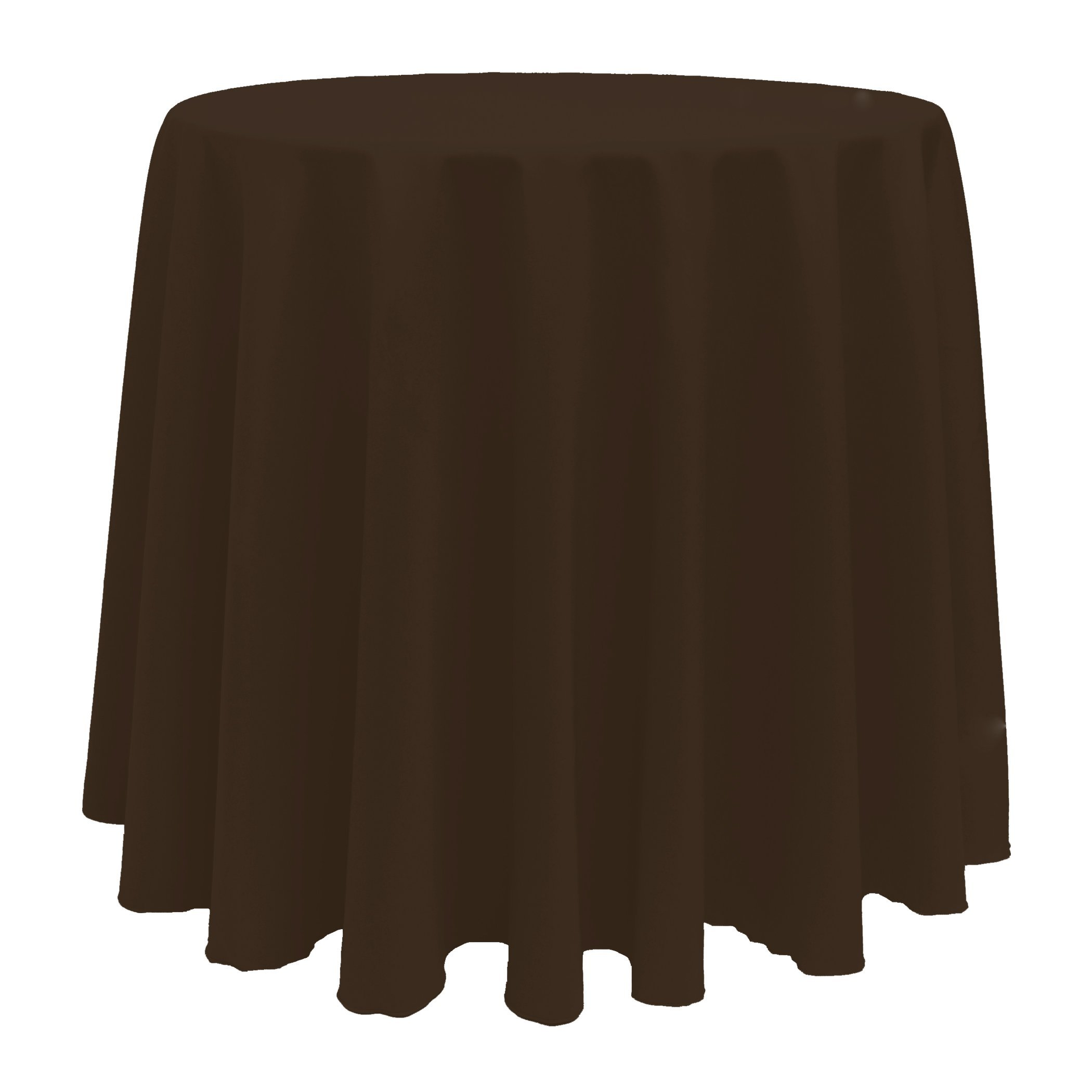 Ultimate Textile (3 Pack) 114-Inch Round Polyester Linen Tablecloth - for Wedding, Restaurant or Banquet use, Chocolate Brown