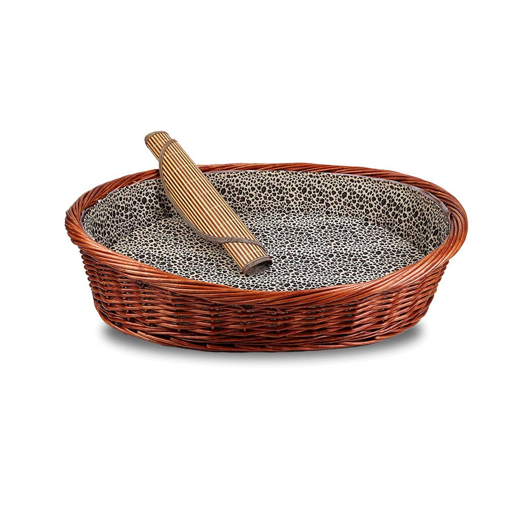 67X50CM Pet Cat Bed Pet Mattress Pillow Cushion Dog Basket Bold Rattan Removable Washable (Size   67X50CM)