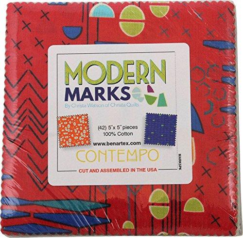 Christa Watson Modern Marks 5X5 Pack 42 5-inch Squares Charm Pack Benartex by Benartex