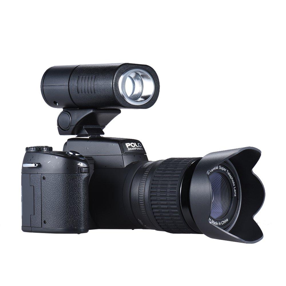 Andoer Polo Sharpshots Cámara Digital AF 33MP 1080 30fps FHD Enfoque Automático 8 x zoom con 0,5 x Gran Angular + 24 x Teleobjetivo Largo 3.0