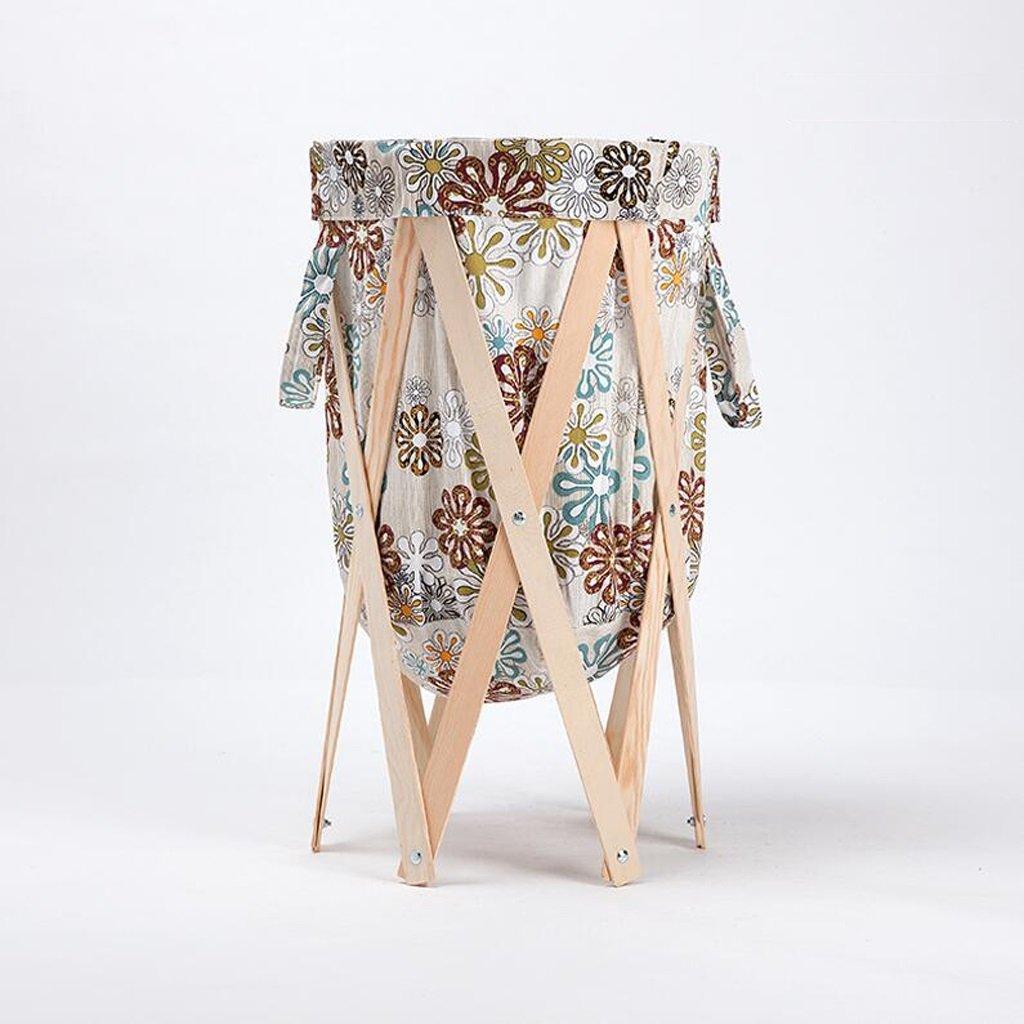 Aufbewahrungstaschen Xuan - Worth Another Beige Schneeflocke Muster Textile Holz Farbe Stent Ändern Kleidung Körbe Ablagekorb Tuch Badezimmer mit Wäschekorb Falten Sie den Korb