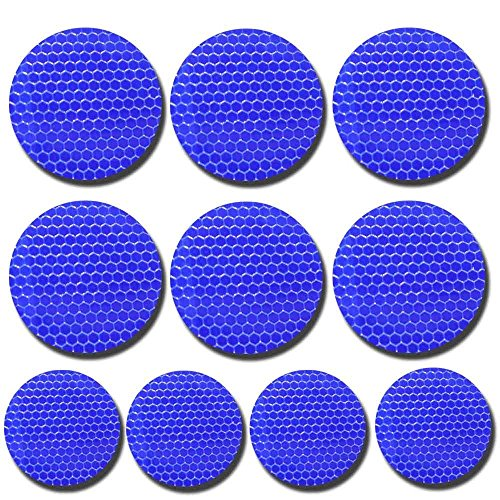 Round shape Blue Reflective Tape For Trucks Trailers Car Park Traffic Warning Caution Conspicuity Tape Waterproof Self-Adhesive Reflector Tape-Reflective Tape 10 packs