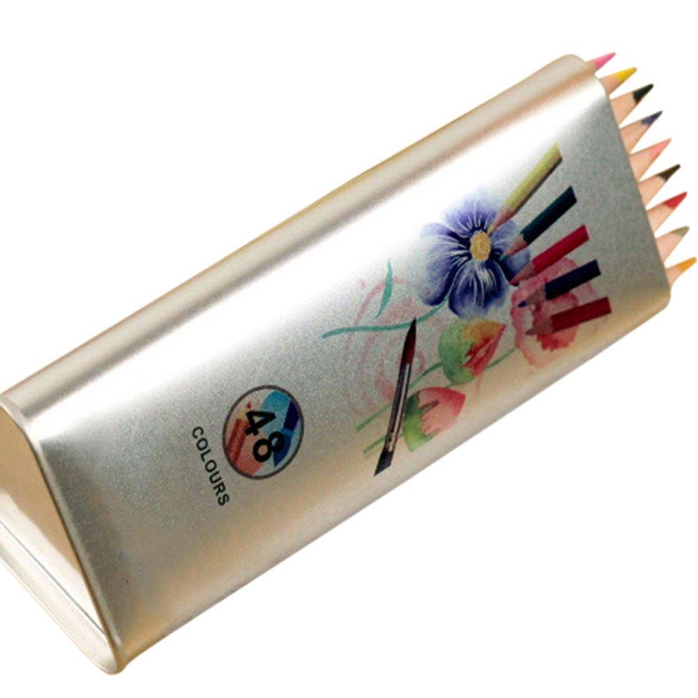 Drasawee Erwachsene & Kinder Wasserlösliche Buntstifte, Zeichenstifte 48Count Mehrfarbig
