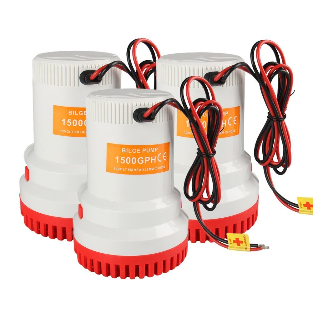 Bang4buck 2000 Gph Electric Bilge Pump 12v 12a Water For Marine Pond Electrical Wiring Boat Pools Ponds