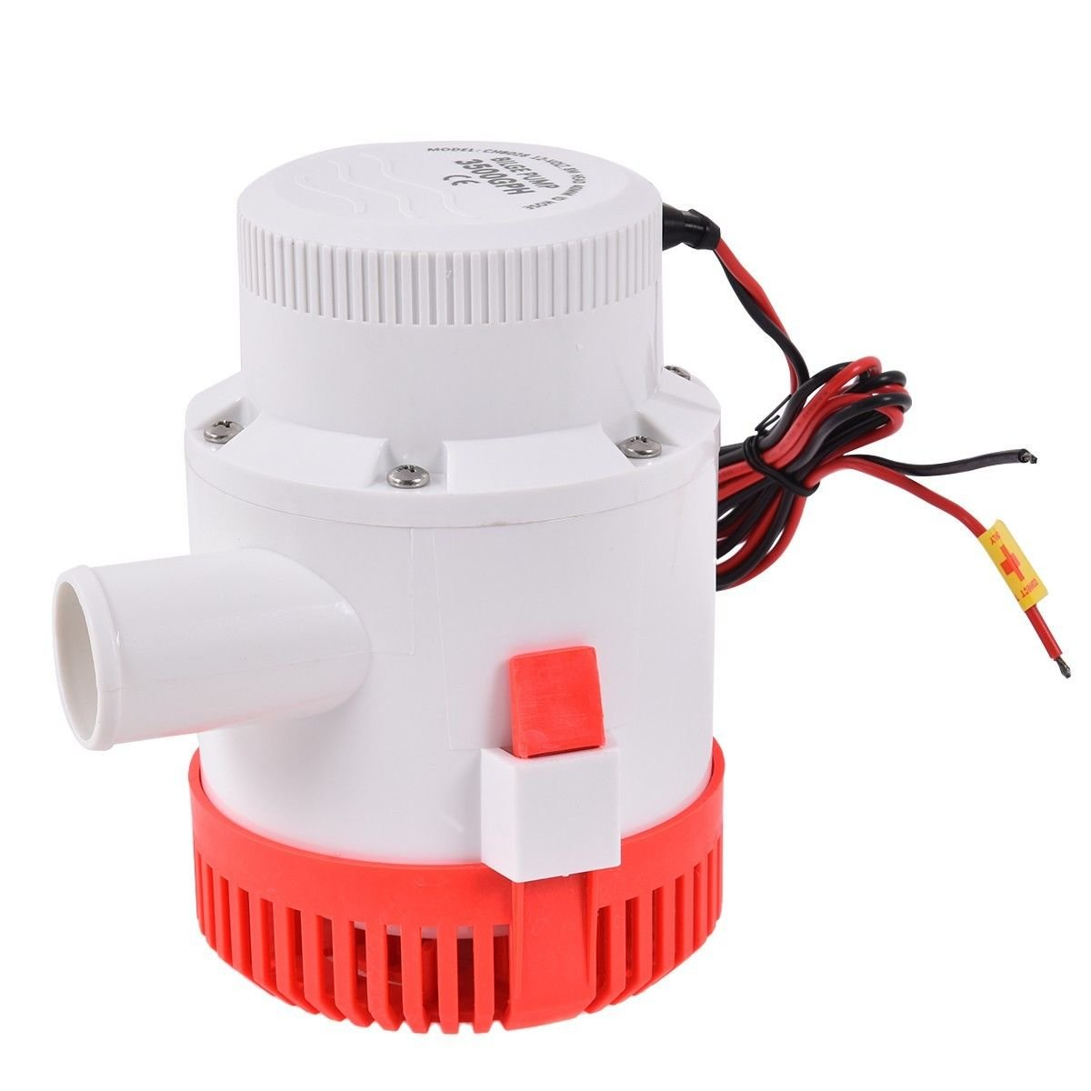 3500 GPH 12V 12A Electric Bilge Pump Marine Boat Yacht Submersible 1-1/2'' Hose