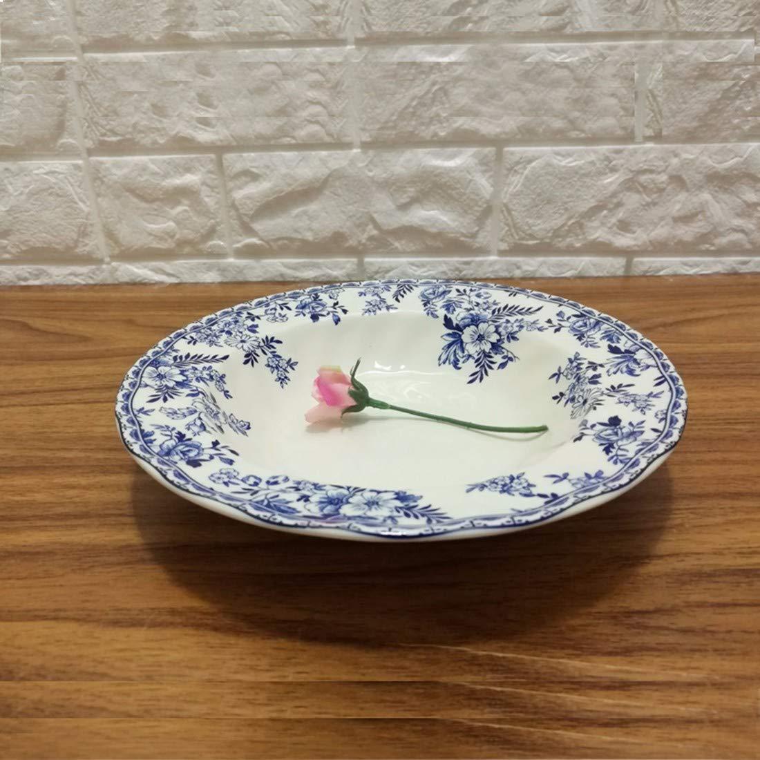 QPGGP-Teller britische blau - weißem Porzellan, westliche Gerichte, haushaltsgeräte, Schalen, Teller und tassen und untertassen, Kaffee, Tee - Sets,e