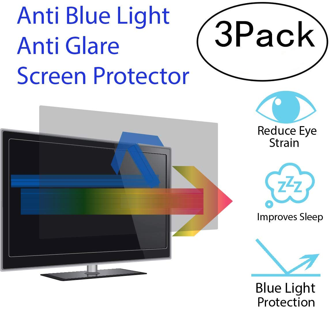 Premium Anti Blue Light and Anti Glare Screen Protector for 27 Inches Laptop with Aspect Ratio 16:09 by WS SCREEN PROTECTOR (Image #1)