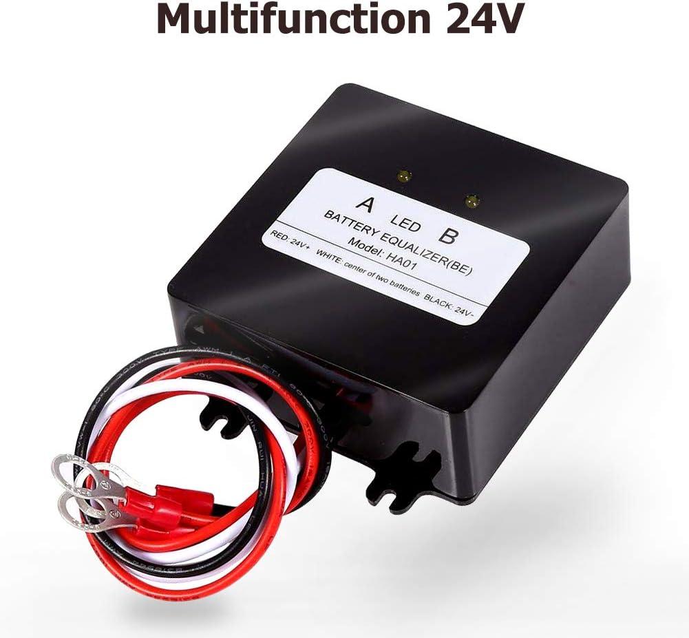 SolaMr Ecualizador de Batería de 24V Balanceador de Batería de 2x12V para Gel/Flood/AGM Baterías de Ácido de Plomo - HA01