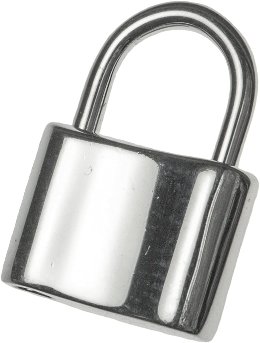 LINK LOCK SAFE OVAL LOCK RINGS 5 STERLING SILVER STRONG 6 X 4 MM