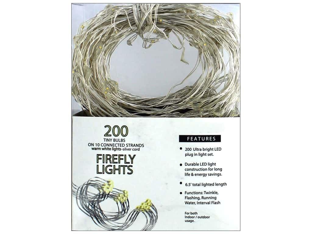 Amazon.com : SPC Light Firefly LED 200ct Warm White Silver Cord ...