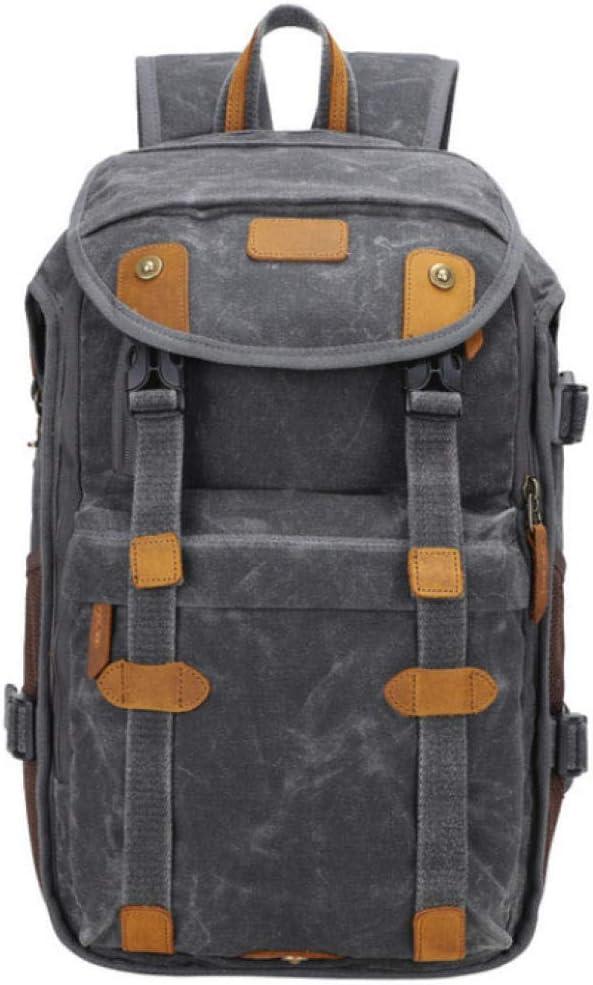 Canvas Camera Bag Outdoor Waterproof Photography Backpack Vintage Shoulder Bags 32X17X45Cm