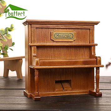 LYMDY Cajas Musicales Viernes Negro Caja de música de Piano de Madera Vintage con Mecanismo de