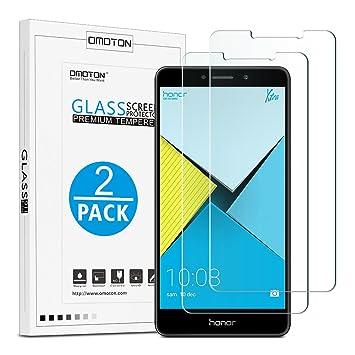 Honor 6X Cristal Templado OMOTON [2 Unidades] Protector de Pantalla Huawei Honor 6X [2.5d Borde redondo]con[9H Dureza][Garantía de por vida]: Amazon.es: ...