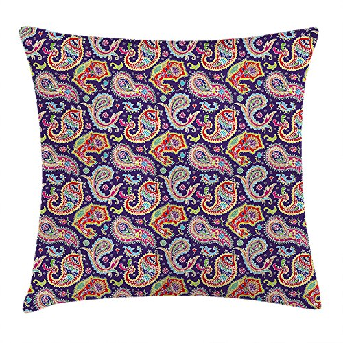 Ashasds East Urban Home Geometrical And Colorful Floral Throw Pillow Covers For Home Indoor Friendly Comfortable Cushion Standard Size 18x18 IN from Ashasds