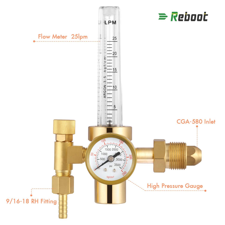 CO2 Full Copper Flowmeter Welding Regulator Gas Valves Welding Accessory For Tig Welder (CO2 Regulator) Shenzhen Mirth Technology A-001