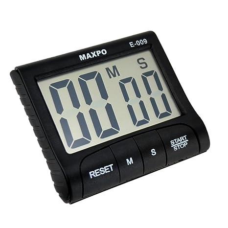 Ckeyin ® Reloj Temporizador Digital Alarma Cuenta Atras de Cocina (Negro)