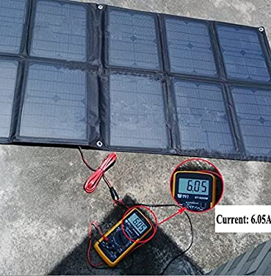 GOWE 100W Solar Panel Monocrystalline Solar Cell Folding Solar Charger for Laptop/Computer/12V Batteries