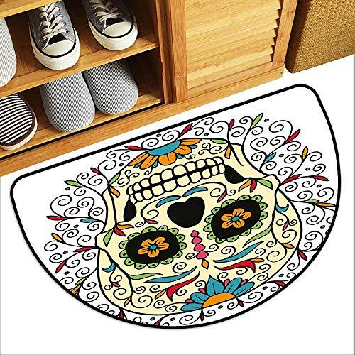 - DILITECK Bedroom Doormat Sugar Skull Decor Catrina Calavera Featured Figure Ornaments Macabre Remember The Dead Machine wash/Non-Slip W30 xL18 Multicolor