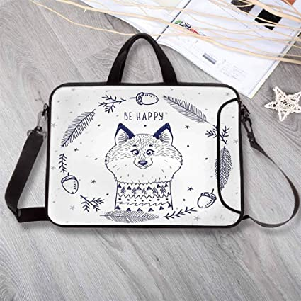 0cd680bfefb0 Amazon.com: Animal Decor Printing Neoprene Laptop Bag,Happy Smiley ...