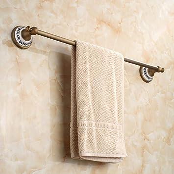 Accesorios de baño antiguos Barra de toalla de latón Decoración para el hogar Toalla Titular Barras