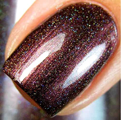 Amazon.com: Burgundy Red Linear Holographic Nail Polish